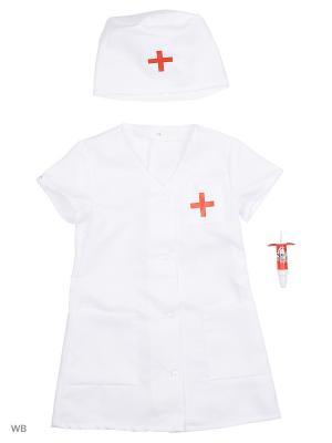 Карнавальный костюм Медсестра-1 Батик. Цвет: белый