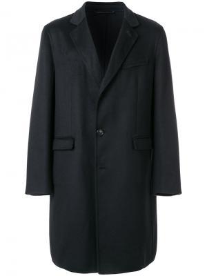 Однобортное пальто Liska. Цвет: чёрный