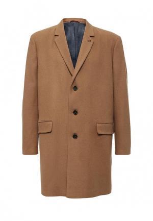 Пальто Burton Menswear London. Цвет: бежевый