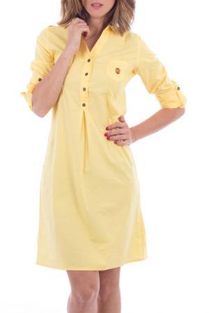 Платье POLO CLUB С.H.A.. Цвет: yellow