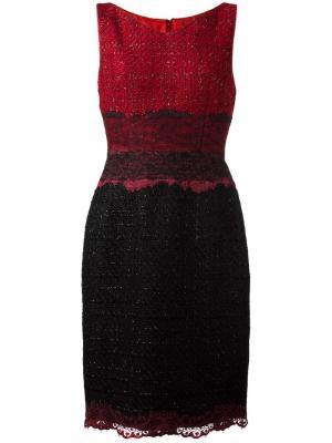 Приталенное платье Talbot Runhof. Цвет: красный