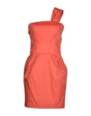 Короткое платье TOY G.. Цвет: лососево-розовый