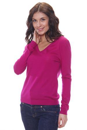 Джемпер с V - вырезом Expression. Цвет: розовый