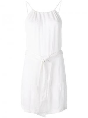 Платье с поясом Cecilie Copenhagen. Цвет: белый
