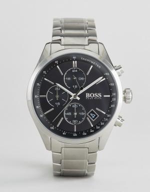 BOSS Серебристые наручные часы-хронограф By Hugo 1513477. Цвет: серебряный