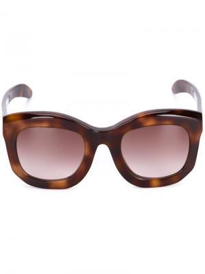 Солнцезащитные очки Mask B2 Kuboraum. Цвет: коричневый