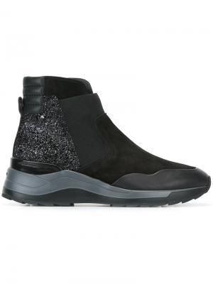 Ботинки по щиколотку Hogan Rebel. Цвет: чёрный