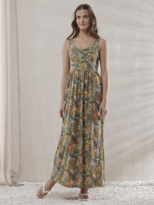 Платье RELAX MODE. Цвет: зеленый