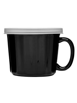 Кружка для супа с крышкой Sagaform. Цвет: черный
