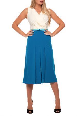 Платье Gloss. Цвет: молочный, сине-зеленый, бирюзо