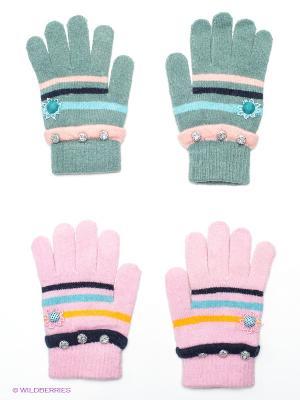 Перчатки, 2 пары FOMAS. Цвет: серо-зеленый, розовый