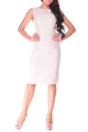 Платье Laura Bettini. Цвет: бежевый