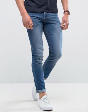 Loyalty & Faith Выбеленные джинсы скинни and Manor. Цвет: синий