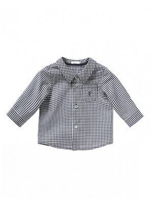 Рубашка United Colors of Benetton. Цвет: черный, белый