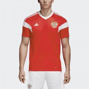 Домашняя игровая футболка сборной России  Performance adidas. Цвет: красный