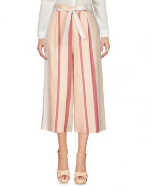Повседневные брюки KING KONG. Цвет: светло-розовый