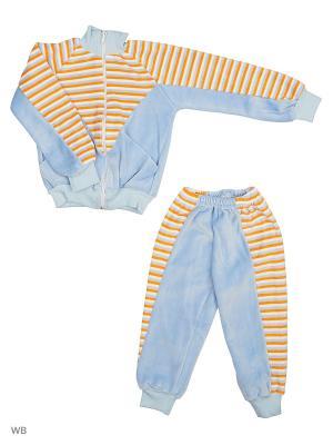 Костюм Babycollection. Цвет: голубой, оранжевый