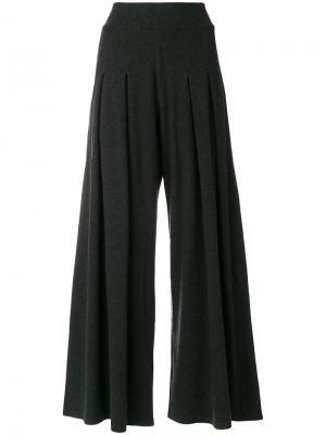 Широкие укороченные брюки Labo Art. Цвет: серый