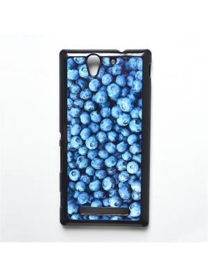 Чехол для Sony Xperia C3 Черника Boom Case. Цвет: лазурный