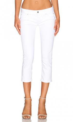 Укороченные джинсы johanna Rock Revival. Цвет: белый