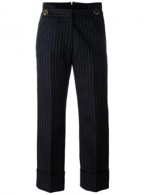 Укороченные брюки в полоску Petar Petrov. Цвет: синий