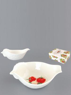 Салатник Помидоры Elan Gallery. Цвет: белый, зеленый, красный