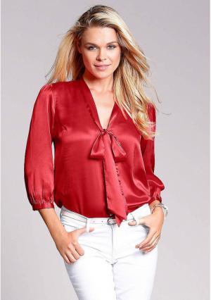 Блузка MY STYLE. Цвет: темно-розовый