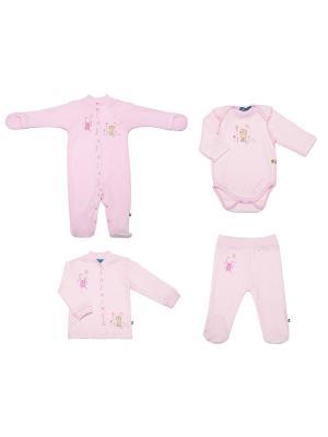 Комплект одежды для малышей SNO KATT. Цвет: розовый