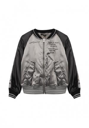Куртка утепленная Sisley. Цвет: серый