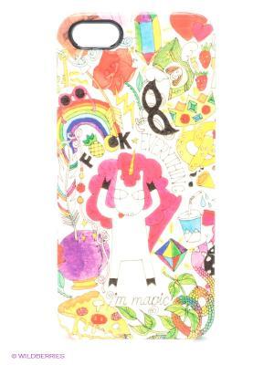Чехол для iPhone 5/5s Im Magic Kawaii Factory. Цвет: бирюзовый, розовый