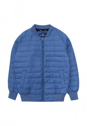 Куртка утепленная Tom Tailor. Цвет: голубой