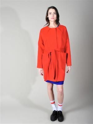 Пальто ALIX STORY. Цвет: красный