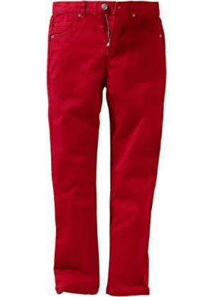 Брюки-дудочки, стандартный (темно-красный) bonprix. Цвет: темно-красный