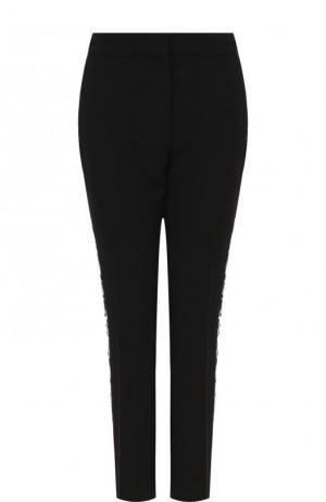 Укороченные брюки с декорированными лампасами и карманами Victoria, Victoria Beckham. Цвет: черный