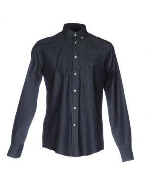 Джинсовая рубашка MORRIS. Цвет: синий