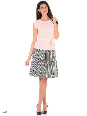 Блузка FLEURETTA. Цвет: бледно-розовый