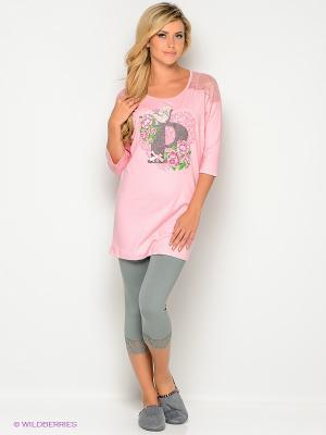 Пижама PELICAN. Цвет: серый, розовый