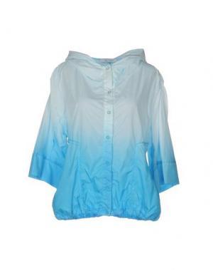 Куртка OBLIQUE CREATIONS. Цвет: бирюзовый