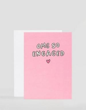 Veronica Dearly Открытка OMG So Engaged. Цвет: мульти