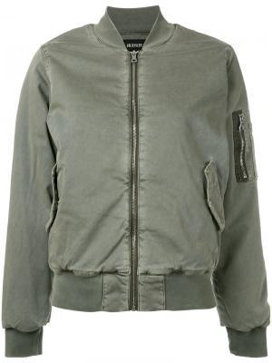 Деконструированная куртка бомбер Hudson. Цвет: зелёный