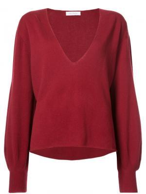 V-neck sweater Ryan Roche. Цвет: красный