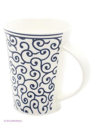 Набор кружек  Арабески бело-синие Elan Gallery. Цвет: синий, белый