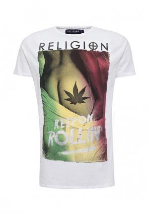 Футболка Religion. Цвет: белый