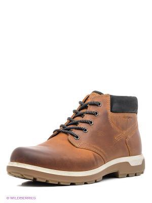 Ботинки ECCO. Цвет: светло-коричневый, рыжий