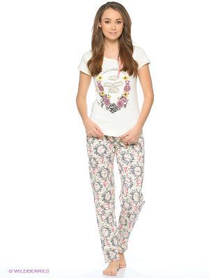 Пижама NICOLETTA. Цвет: бежевый