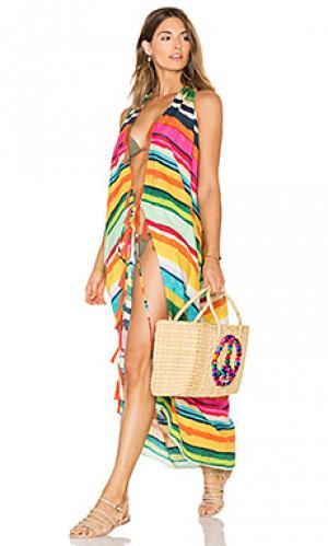 Платье с глубоким v-образным вырезом Lenny Niemeyer. Цвет: розовый
