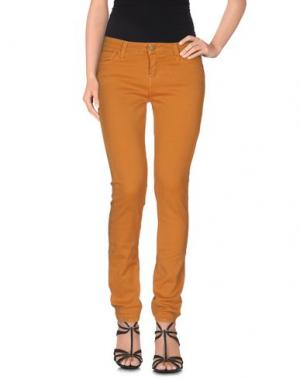Джинсовые брюки ACQUAVERDE. Цвет: охра