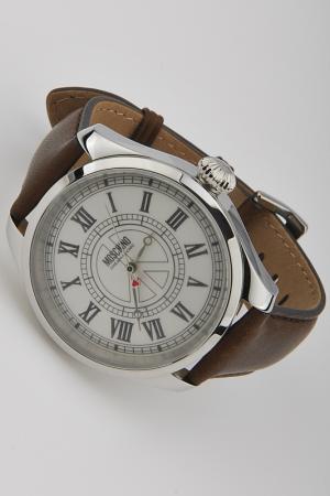 Кварцевые часы Moschino. Цвет: коричневый