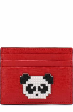 Кожаный футляр для кредитных карт Les petits joueurs. Цвет: красный