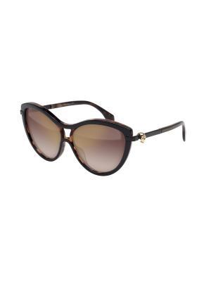 Солнцезащитные очки Alexander McQueen. Цвет: серый, черный